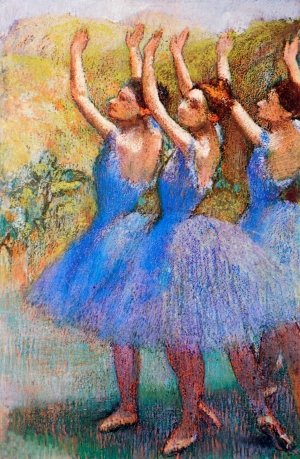 Photo de Three Dancers in Violet Skirts